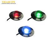 24V indicatore luminoso della piscina dell'acciaio inossidabile LED della PANNOCCHIA IP68 RGB, indicatore luminoso subacqueo della fontana