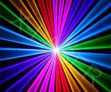 Etapa de proyección de láser RGB multicolor demostración de la animación