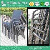一定のガーデン・チェアのホテルのプロジェクトの熱い販売の椅子の長方形表(魔法様式)を食事する柳細工のスタック可能椅子
