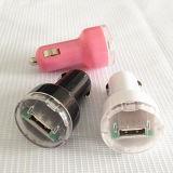 Заряжатель автомобиля заряжателя 5V автомобиля USB покрашенный 1A миниый один для мобильного телефона