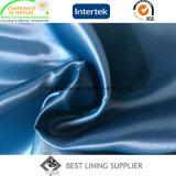 Изготовление ткани подкладки глянцеватой мягкой сатинировки полиэфира 100 твердое