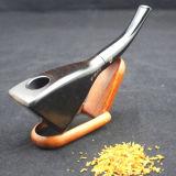 Pipe de fumage en bois de traitement mou durable normal fabriqué à la main de bois d'ébène
