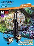 Berufsunterwasserleistungsfähiges LED Watt des tauchens-Geräten-der Taschenlampe-150*2
