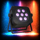 IGUALDAD plana de Uplight 7PCS 15W Rgabw del disco sin hilos LED de la boda