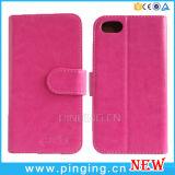 Caso de la cubierta del tirón del cuero de la PU de la carpeta para el iPhone 7/7 más