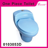 Densité bon marché de la Chine de salle de bains de Colourfull des prix vidant avec la toilette d'une seule pièce de garnitures de réservoir et de couverture de portée