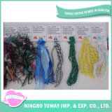 Crochet que tricota manualmente o fio extravagante do Tt do POM-POM acrílico de lãs