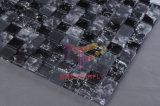 Mosaico Gelo-Rachado preto do cristal (CC149)