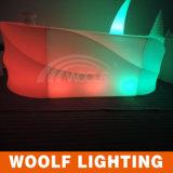 Contador plástico iluminado de la barra de la barra LED del vector del LED