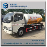 Тележка топливозаправщика Dongfeng всасывания сточной трубы 5000 литров нечистоты всасывая тележку для сбывания