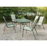 Jantar Jardim Outdoor Patio Furniture com 6 cadeiras (FS-1101 + FS-5112)