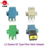 Tipo a dos caras adaptador óptico del Sc del LC de fibra