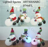 Het Spelen van de sneeuwman de Bal van de Verlichting van Kerstmis, asst-Kerstmis 3 Verlichting