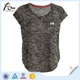 Form-Neonfarben-Ebenen-Shirt-Mädchen-Sport-Abnützung