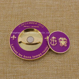 カスタムSoft Enamel 3D Metal Coin Golf Marker Challenge Coin