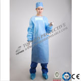 Meidcal a perdere Dressing Surgical Gown con Knitted Cuff