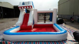 Inflatable commerciale Water Slide con Ball Pool da vendere