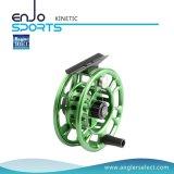 Carretel seleto da mosca do equipamento de pesca do CNC do verde do pescador com GV (7-8 CINÉTICO)