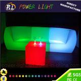 조명된 LED 가구 바 플라스틱 소파 의자