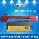 Impresora al aire libre Eco del acoplamiento de Garros del trazador de gráficos de la inyección de tinta solvente de alta velocidad de la etiqueta engomada
