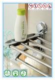 二重クロム浴室のタオル掛けのホールダーの記憶ラック棚棒