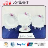 Insieme quadrato degli articoli per la tavola di Porcerlain di figura, insieme di ceramica del padellame