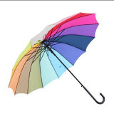 Guarda-chuva reto colorido do projeto do arco-íris