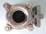 Vávula de bola del extremo 3PC del socket del acero inoxidable