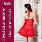 赤い美のベビードールL27980-2