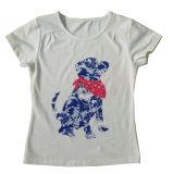 Одежды младенца девушки цветка способа в тенниске малышей детей с Printingsgt-079