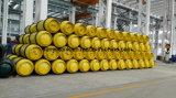 Buena calidad 400L de acero al carbono soldada de cloro líquido de cilindro con brida y la válvula