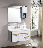 Gabinete de banheiro branco do aço inoxidável do respingo