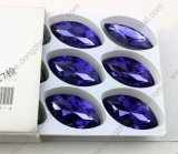 Precious China Crystal Stone Navette Shape Amethyst Crystal Beads