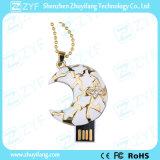 かわいい月の形のベーキングニスの宝石類USBのペン駆動機構(ZYF1903)