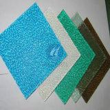 Panneau ondulé coloré de polycarbonate de feuille de relief par PC en plastique