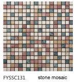 Natürlicher Steinmarmormosaik-Marmor der Gebäude-Wand-Badezimmer-Fliese (FYSSC022)