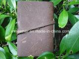 Carpeta de cuero de cuero personalizada del cuaderno de la conferencia de Padfolio A5