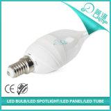 新しいデザイン6W LED蝋燭ランプE14 E27 Availbale