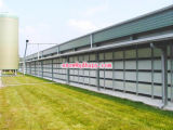 Construcción de acero en casa de las aves de corral con diseño libre y la instalación eficiente