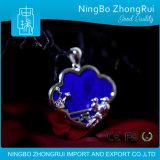 925 de echte Zilveren Pruim Serie 4 van de Tegenhanger van de Juwelen van Lapis lazuli