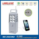 Luz de emergencia de 24PCS SMD LED + Radio + USB
