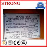 Anti dispositivo de segurança da queda, dispositivo de segurança do elevador, dispositivo de segurança do edifício da construção