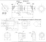 Côté gauche du boulon M18*1.5/M20*1.5*78 de moyeu de roue de la picoseconde 125-135t de galop