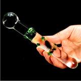 Vibrador de vidro do brinquedo do sexo para as mulheres Injo-Dg201