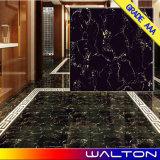 Schwarze Farben-voll polierte glasig-glänzende Porzellan-keramische Fußboden-Fliesen (WG-6Y312)