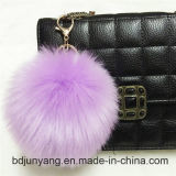 Furry Hand-made Faux Fur POM POM Fox Ball Porte-clé