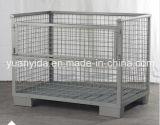 Rectángulo resistente del envase de almacenaje de la jaula del alambre de la capa del polvo