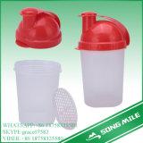 garrafa de água graduada de 500ml PP com tampão vermelho