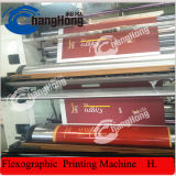Machine d'impression flexographique de papier d'emballage de Brown de 4 couleurs