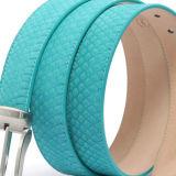 Correia de couro genuína formal simples de acessórios de forma das curvaturas de correia de couro